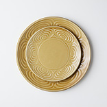 馬の目皿(丸皿|黄瀬戸)