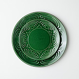 馬の目皿(丸皿|織部)